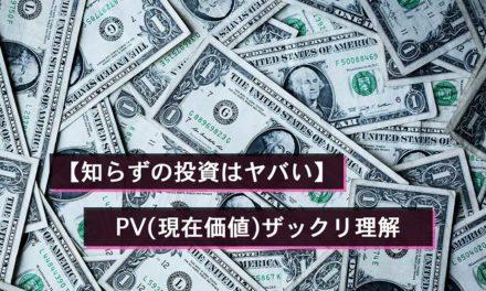 【知らずの投資はヤバい】PV(現在価値)ザックリ理解